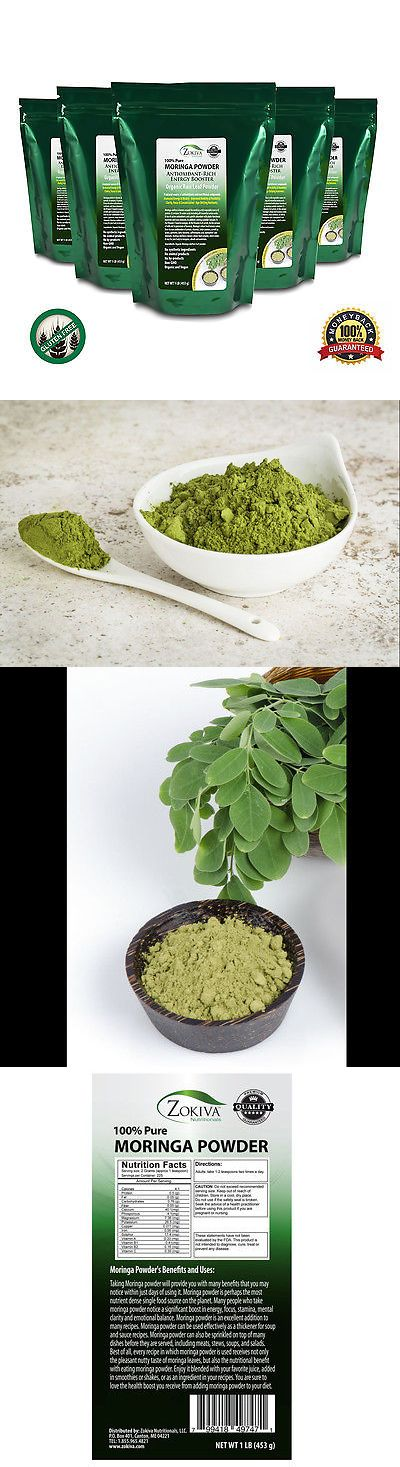 Herbs and Botanicals: Moringa Oleifera Leaf Powder 5 Lb Organic, All-Natural 100% Pure. BUY IT NOW ONLY: $83.5