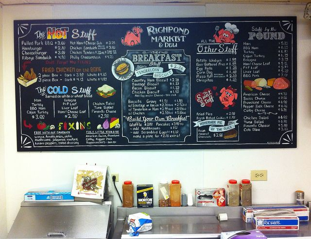 Richpond Market & Deli Chalkboard Menu Board Makeover by ArtFX Design Studios, via Flickr
