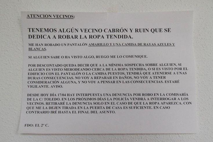 Ropa tendida... no voy a reparar en daños #dramaenelportal @hematocritico