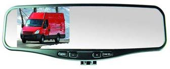 "RearSight 1/4"" CMOS Hybrid Color Camera featuring Deluxe 4.2"" TFT LCD Rear View Mirror"