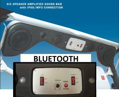 Bluetooth Jeep Wrangler Soundbar with Amp & LED Lights & 6 speakers