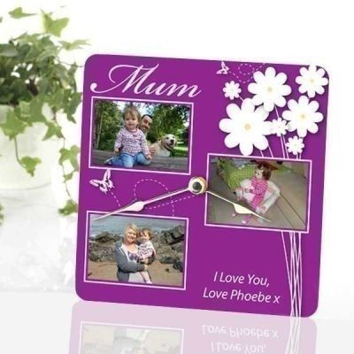 £19.95 Mother's Day Personalised Photo Clock | #MothersDay | The Personalised Gift Shop