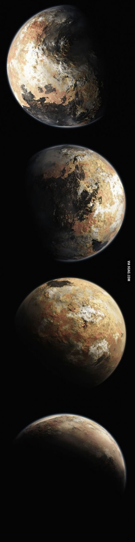 NASA released high-quality renderings of Pluto for more info go to humedentist.com