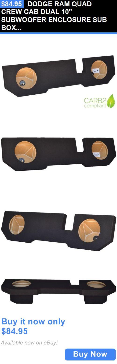 Speaker Sub Enclosures: Dodge Ram Quad Crew Cab Dual 10 Subwoofer Enclosure Sub Box 2002-2015 BUY IT NOW ONLY: $84.95