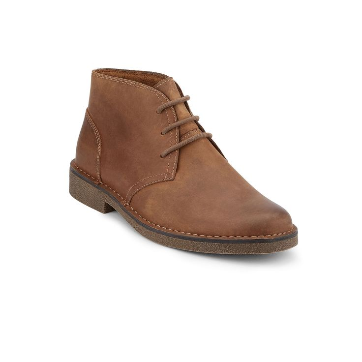 Dockers Tussock Men's Leather Chukka Boots, Size: medium (7.5), Med Brown