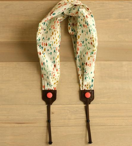 Dotted Scarf Camera Strap by Bluebird Chic on Scoutmob Shoppe