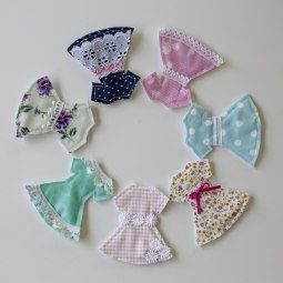 felt doll dresses #sew #paperdoll #diy