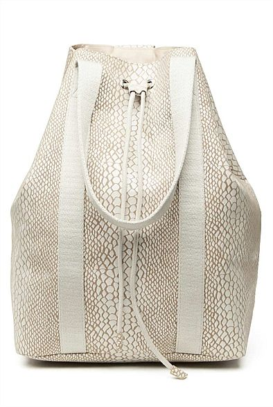 Yasmina Exotic Bag. Love this print and white detail together. #withcherywishlist