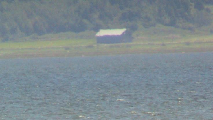 zoom impressioniste sur la rive sud du fleuve (genre l'Isle Verte - la ville d'en face de l'Île Verte. ben oui. quoi?)  l'Île Verte, été 2011