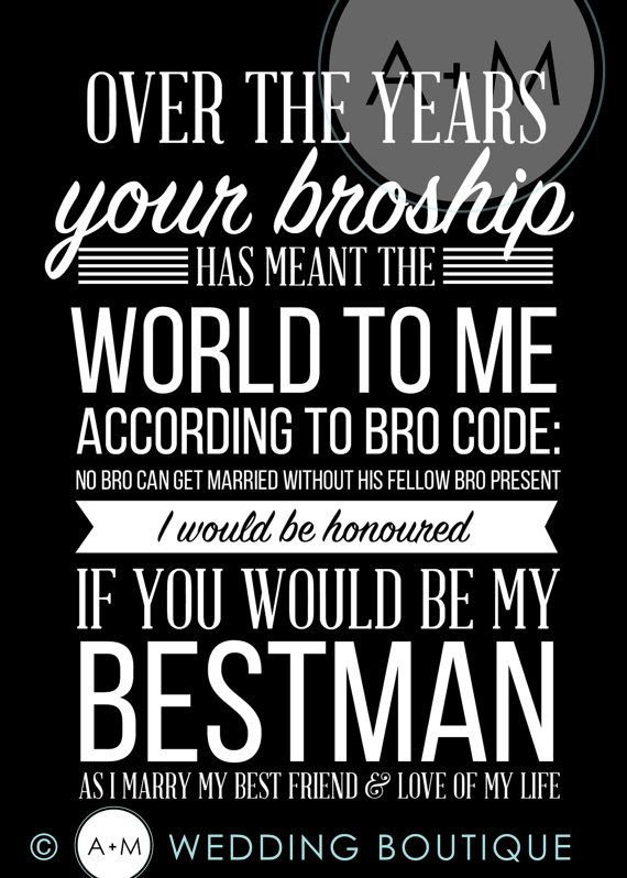 Will You Be My Groomsman Cards Best Man by AMWeddingBoutique