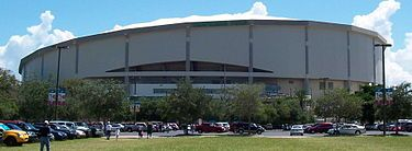 Tropicana Field,St. Petersburg Fl..when they were The Devil Rays 1st season I worked here...would work for FREE