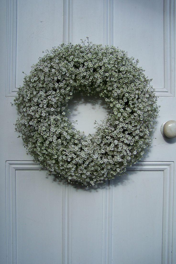 Door Wreath with Gypsophilia