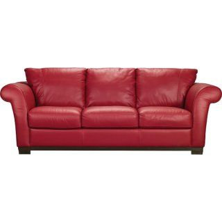 [Layla Genuine Leather Sofa – Red]
