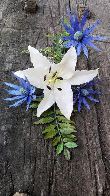 Lily, erygnium, fern