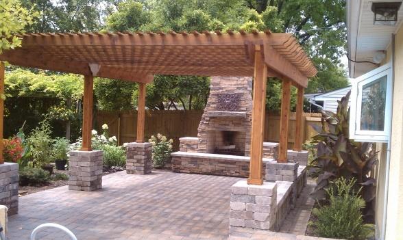 pergola: Backyard Ideas, Backyard Inspiration, Backyard Landscape, Backyard Dreaming, Outdoor Kitchens, Pergola, Outdoor Spaces