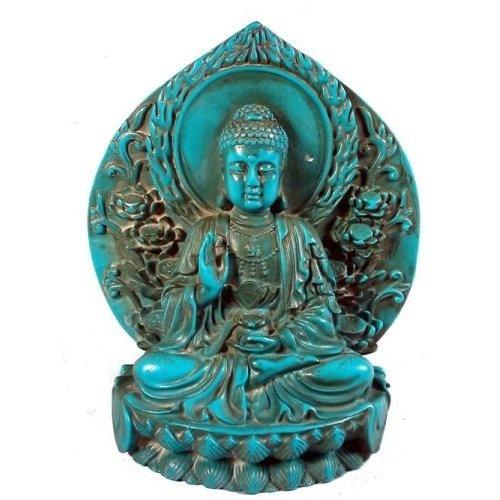Buddha: Cabinets Decor, Buddha Statues, Favorite Colors, Tibetan Buddha, Turquois Tibetan, Turquois Buddha, Resins Buddha, Mandalas Trade, Turquois Resins