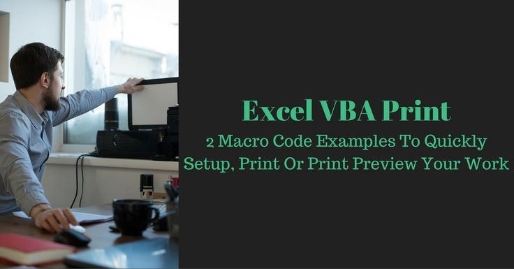 Complete step-by-step explanation of how to setup a page, print or print preview from Excel with VBA. 2 comprehensive code examples you can use right now.