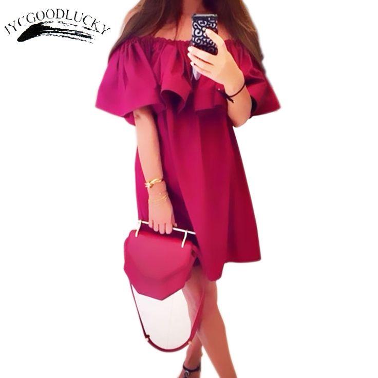 $14 Summer Dress Party Elegant Vestidos Dress Female 2017 Slash Neck Dresses For Women Sundress Beach Dress Women Vestido, летнее платье 2017, сарафан, пляж, короткое, красное, зеленое, хаки, розовое, белое