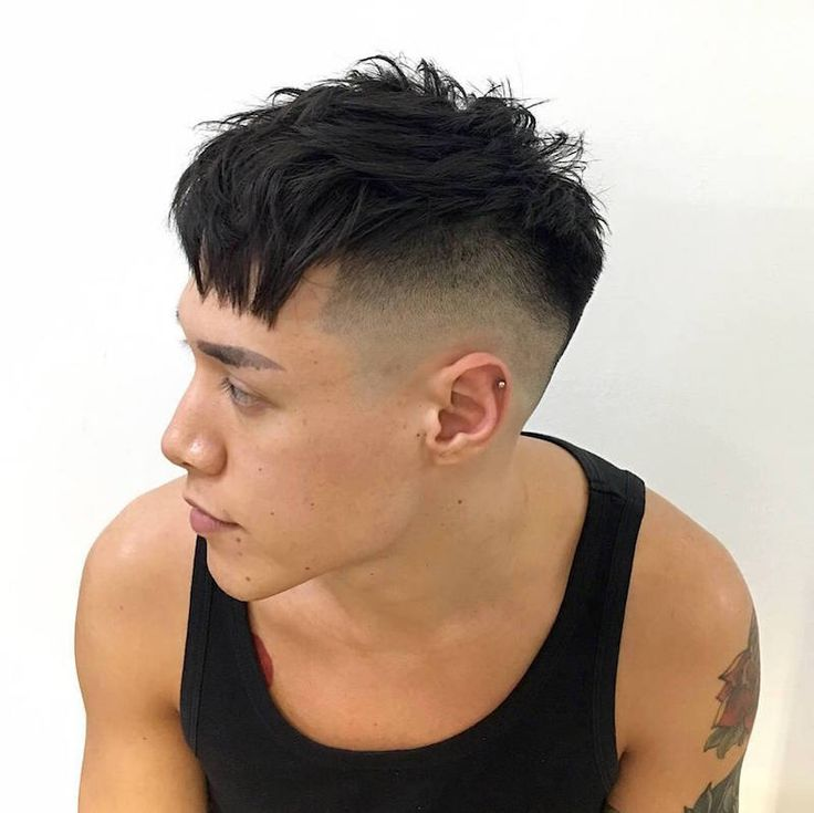 barber_djirlauw_and__Razor faded undercut chopped and sliced top with a diagonal straight fringe