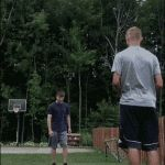 Is this the most unlikely basketball shot in existence?