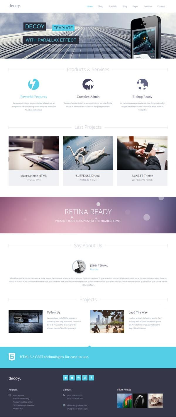 decoy multipurpose HTML5 template #responsivetemplates #websitetemplates #html5templates #templates