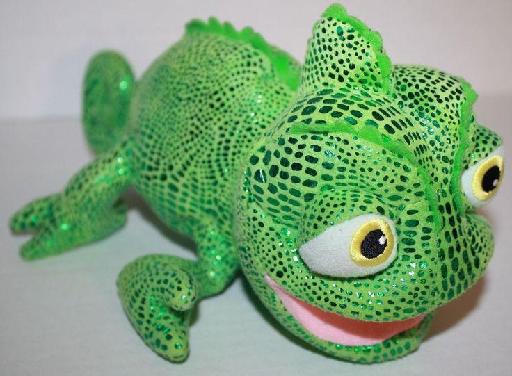 Disney Lizard Princess Rapunzel Green Plush Tangled Pascal