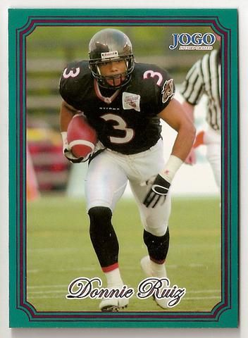 Donnie Ruiz CFL card 2002 Jogo #110 Ottawa Renegades  Wilfrid Laurier Golden Hawks