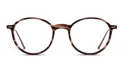c624a4c5b120 Ottoto Tulip Shiny Clear Brown w Gold Prescription Eyeglasses