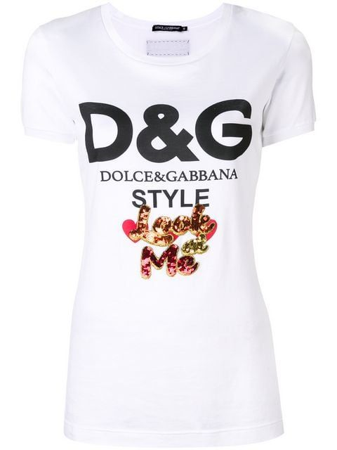 909d644346af Dolce   Gabbana T-shirt Con Logo Stampato - Farfetch