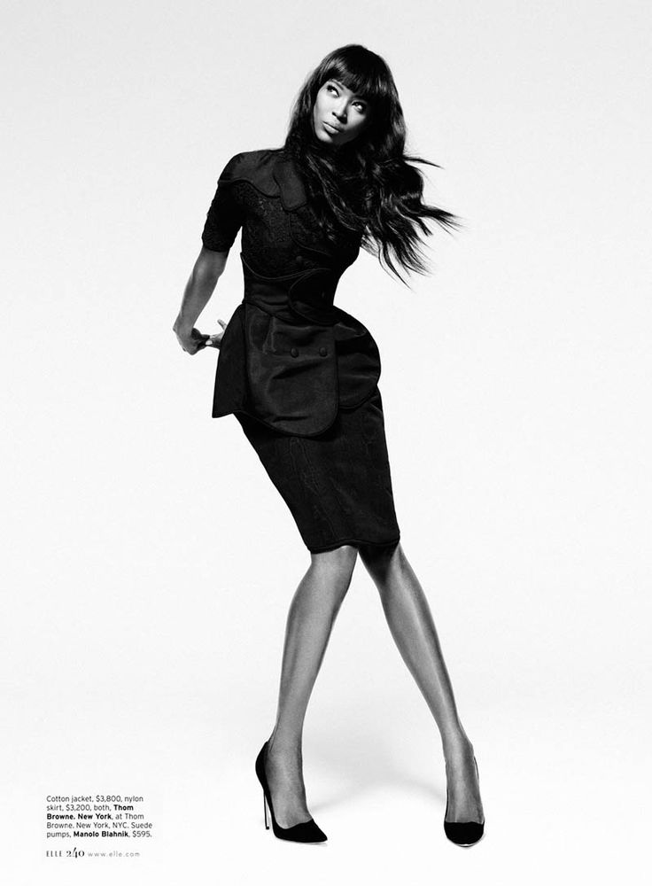 Naomi Campbell in 'Leave it to Diva' | photography by Thomas Whiteside | Elle (US) Feb 2013