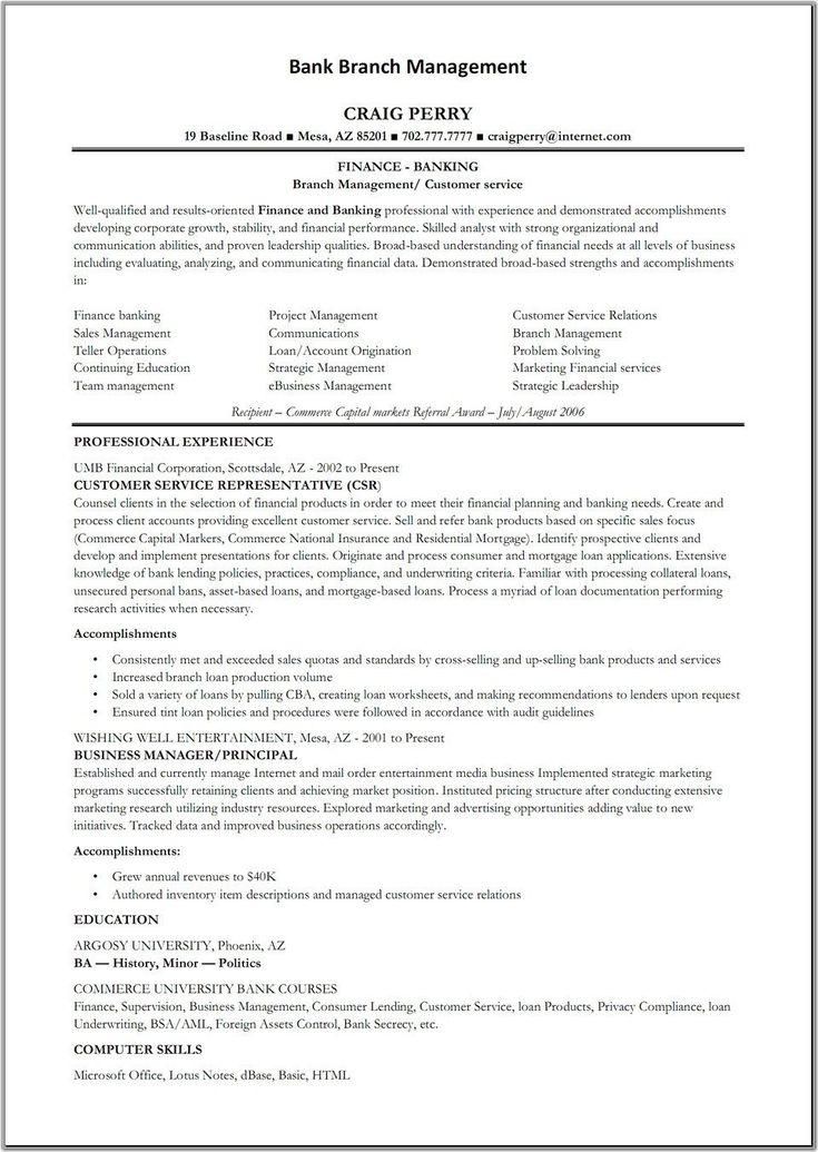 Resume Format For Banks Sample Bank Cover Letter Resume