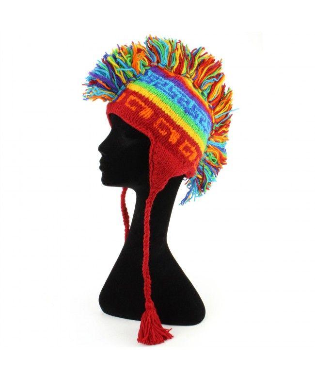 LOUDelephant 'Punk' wool knit Mohawk hat - Rainbow