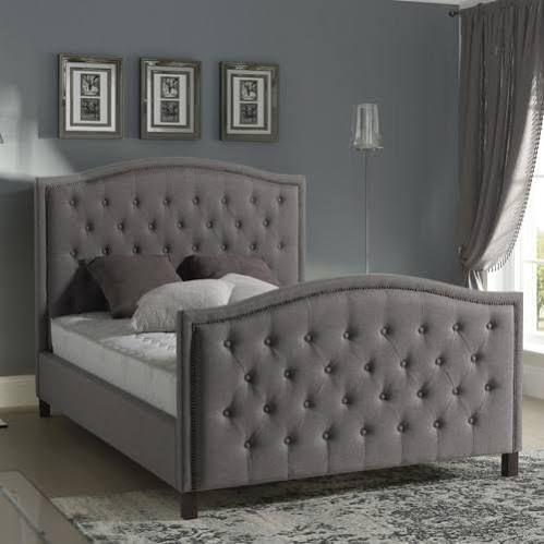 upholstered sleigh bed