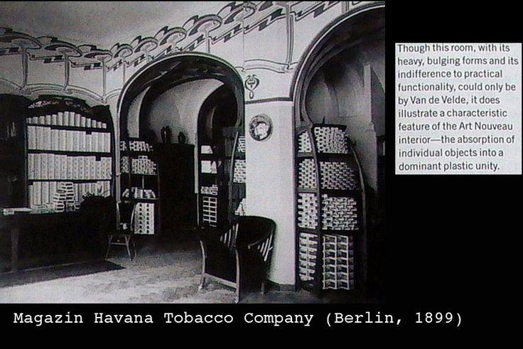 Henry Van de Velde. Magazin Havana Tabaco Company - Berlin 1899