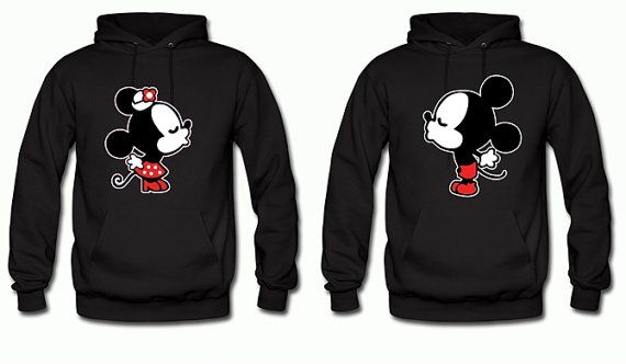 disney matching couples hoodies mickey and minnie by