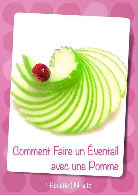 Bonjour, aujourd'hui je vous invite à  découvrir comment faire un éventail avec une pomme en seulement 1 minute !          Pour la ...