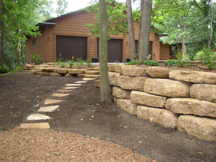 Natural Outcropping Stone Wall.