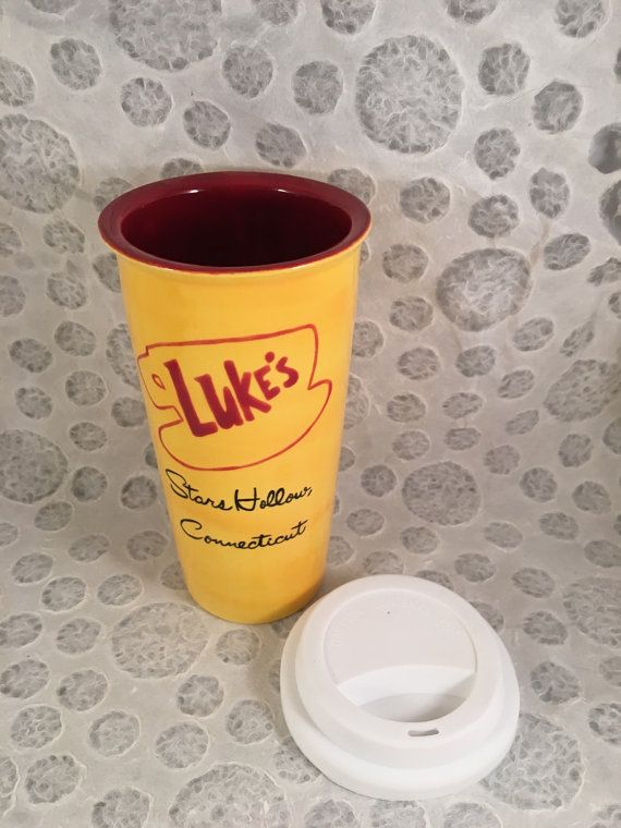 Luke's Diner Inspired Gilmore Girls Travel Mug by HandPaintedNerd