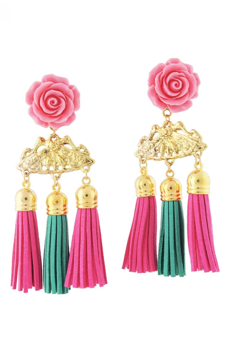 PITANGA Brigitte Pink Earrings