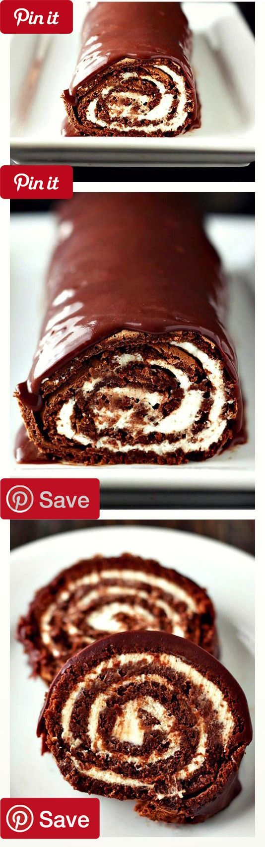 Chocolate Swiss Roll Cake is the ultimate decadent gourmet ...