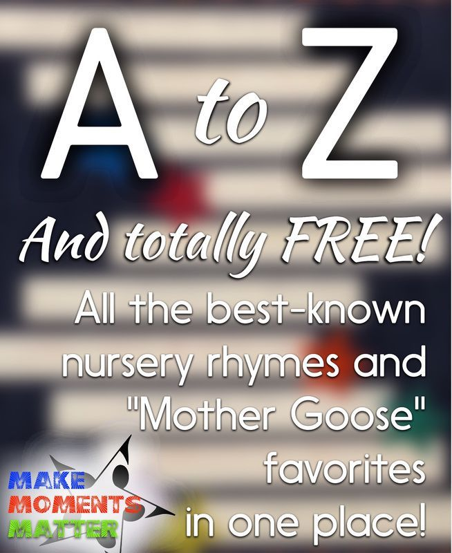 202 best music freebies i love images on pinterest classroom ideas a super list of nursery rhymes and mother goose favorites all in one place fandeluxe Gallery
