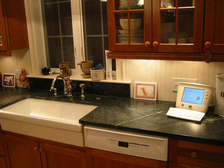 It Probably Is A Good Idea To Have A More Water Resistant Backsplash Right Behind The Sink