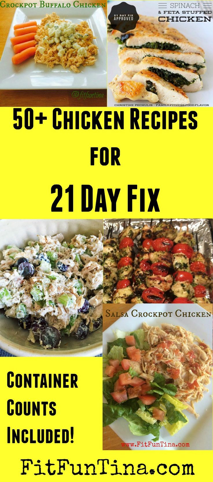 50+ 21 Day Fix Non-Chicken Recipes - Fit Fun Tina