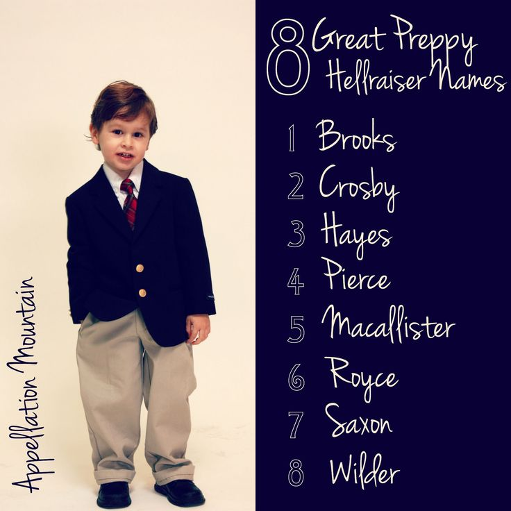 Move over, Hunter! Here are 8 Great Preppy Hellraiser Baby Names - from Wilder to Hayes.