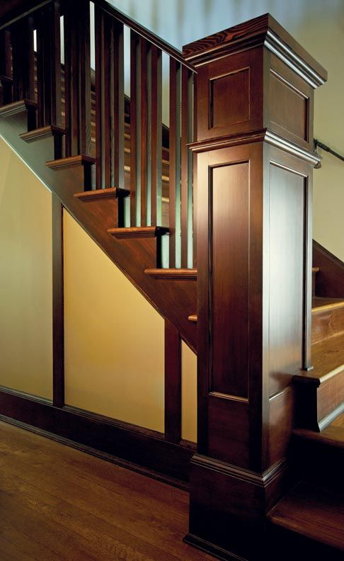 Best A Bungalow Education With Images Craftsman Staircase 400 x 300