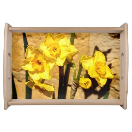 #beauty - #Jonquil Flowers Serving Tray