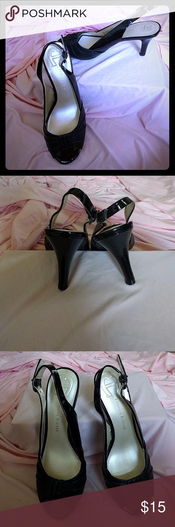 Etienne aigner black leather gloves - Etienne Aigner Sz 7 Black Dress Shoes Rarely Worn