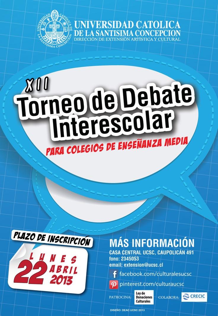 Inscripciones abiertas para el torneo de debates.