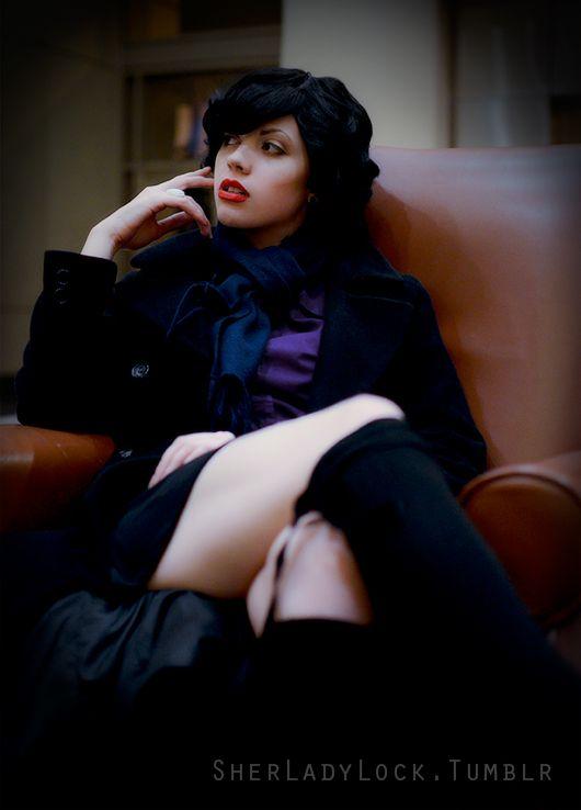 Female Sherlock Cosplay ————- Fem!Lock:Zeonfoxie/Sherladylock Photo by:Trollmano/Thekissogramthatwaited
