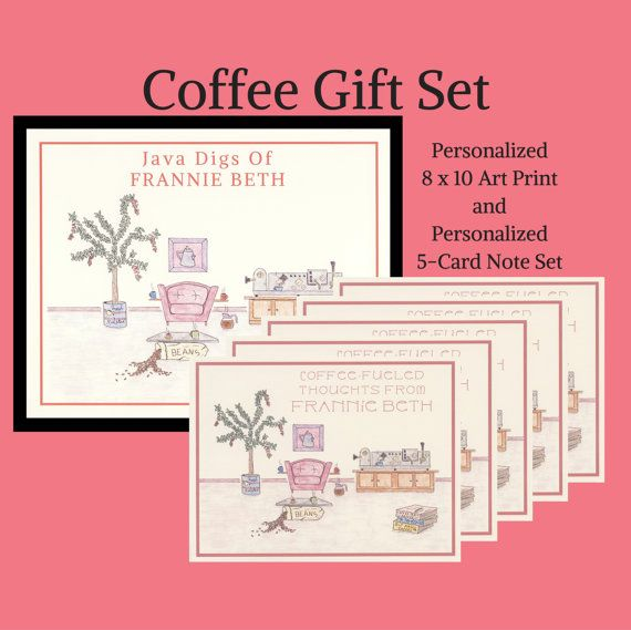 Personalized Coffee Gifts Coffee Gifts Gift Sets by WhatACardCards